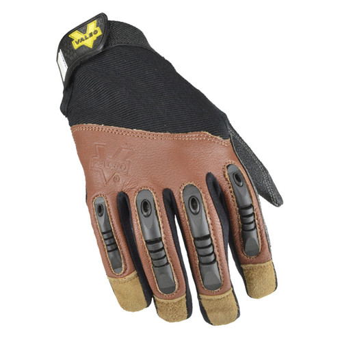 Valeo V265 Extreme Leather Pro Utility Gloves with TPR Fingers Top View. Shop Now!