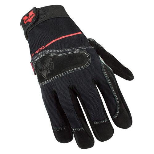 Valeo V420 Mechanic's Split-Leather Anti Vibe Gloves Top View. Shop Now!