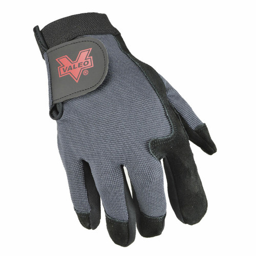 Valeo V425 Split Leather Full-Finger Anti Vibe Glove Top View. Shop Now!