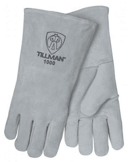 Tillman 1000L Grey Mig Glove Tillman 1000L Grey Shoulder Split Cowhide Stick Welding Gloves (1 Pair). Shop Now!