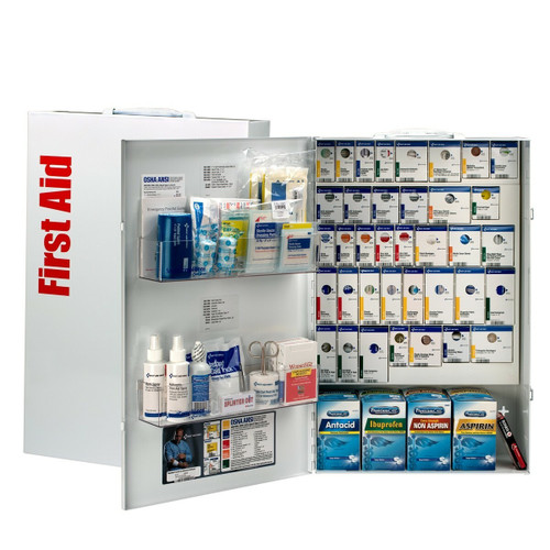 First Aid Only 90832 XXL 200 Person XXL Metal Smart Compliance First Aid Cabinet With Medication. Shop Now!