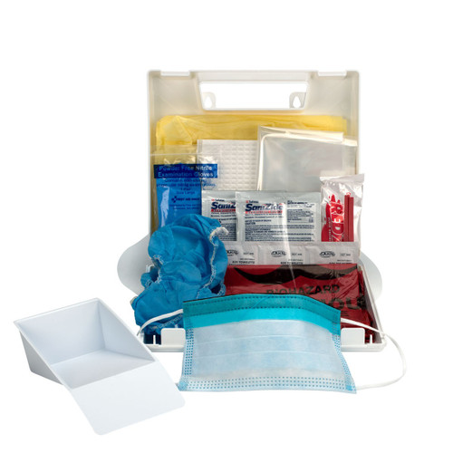 First Aid Only 214-U/FAO Wall-Mount Bloodborne Pathogen (BBP) And Bodily Fluid Spill Kit In Plastic Carry Case, OSHA, 24 Pieces, White. Shop Now!