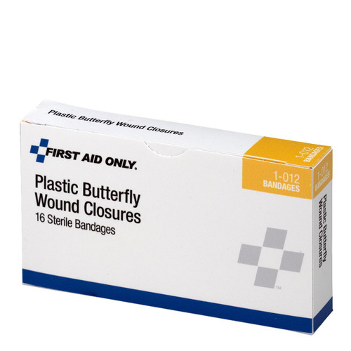First Aid Only FA-1-012 Butterfly Wound Closures, Large, 16 Per Box. Shop Now!