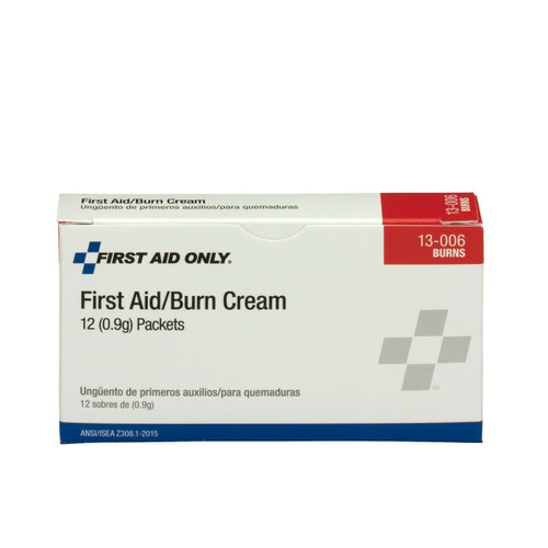 First Aid Only FA-13-006 First Aid Burn Cream, 12 Per Box. Shop Now!