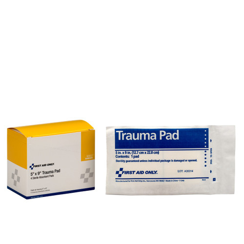 "First Aid Only FA-90657 5""X9"" Trauma Pad, 4 Per Box. Shop Now!"