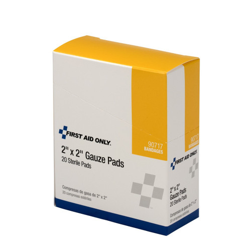 "First Aid Only FA-90717 2""X2"" Sterile Gauze Pads, 20 Per Box , Shop Now!"