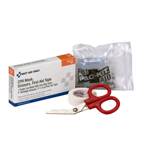 First Aid Only FA-90638 CPR Mask, Scissors, Tape Roll, 1 Each Box. Shop Now!