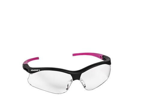 38478 Clear Anti-Fog Lens, Black Frame with Pink Tips