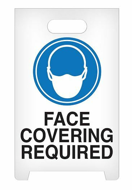 INCOM ASF1014 A-Frame Standing Floor Sign - Face Covering Required. Shop Now!