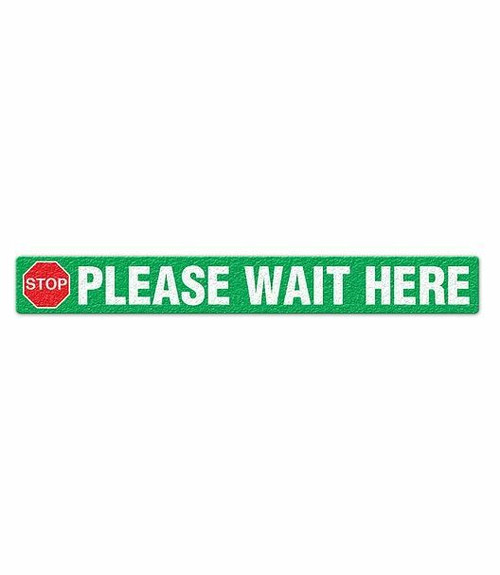 INCOM FS3038OD STOP Please Wait Here Anti-Slip Floor Sign for Outdoors. Shop Now!