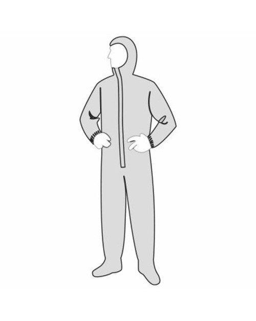 Buy Permagard  18122 microporous Disposable Coveralls - elastic Wrist and Ankle with Hood and Boots. Shop Now!