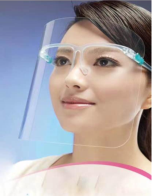 Clear Faceshield with Glasses Frame -50 each. Shop Now!