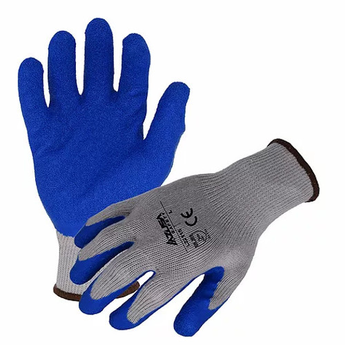 Rubber Latex String Knit Gloves Blue. Shop Now!