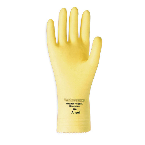 Ansell 390-9 Technicians Neoprene and Natural Rubber Latex Immersion Glove with Pinked Cuff. Shop Now!