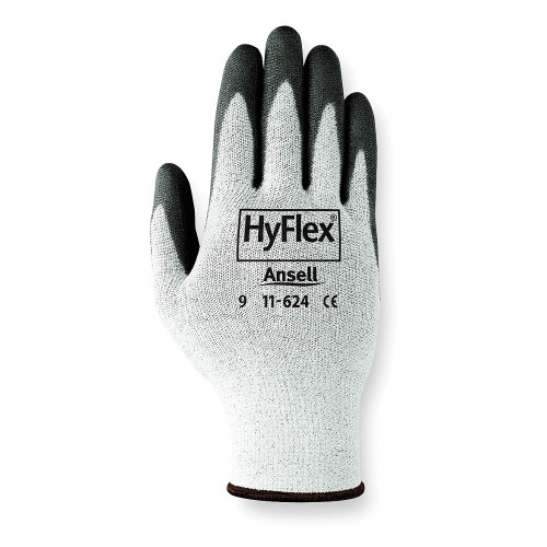 Ansell HyFlex Black Cut Protection Palm Coated Light Duty Glove with Knitwrist Cuff. Shop Now!