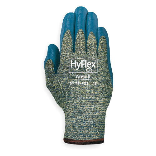 Ansell HyFlex Medium Cut Protection Palm Coated Duty Glove with Knitwrist Cuff. Shop Now!