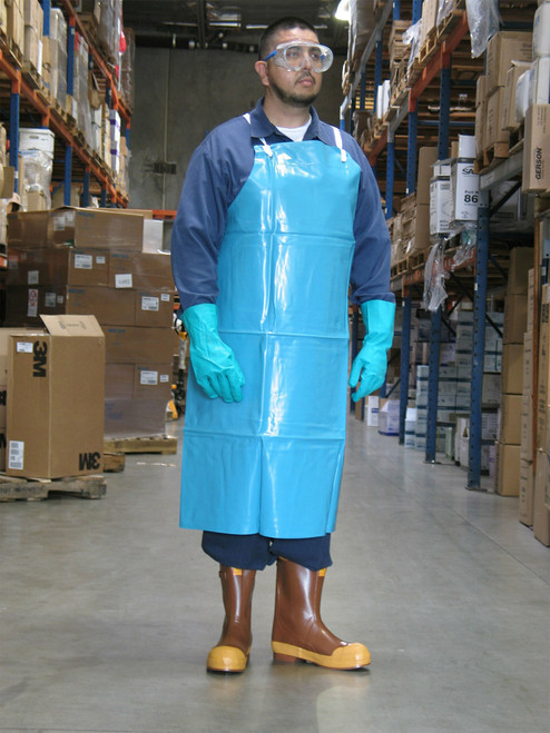 Ansell Green PVC Apron Without Stomach Patch 33 in X 44 in. Shop now!