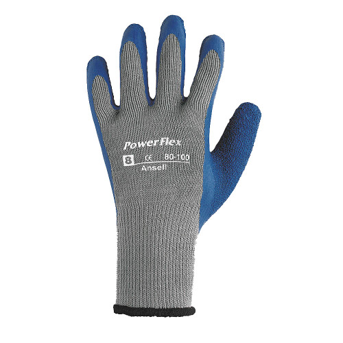 Ansell Powerflex Multi-Purpose Textured Palm Coated Heavy-Duty Glove with Knitwrist Cuff. Shop Now!