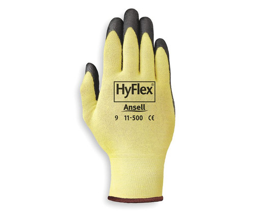 Ansell 11-500 HyFlex Cut Protection Palm Coated Light Duty Glove with Knitwrist Cuff. Shop now!