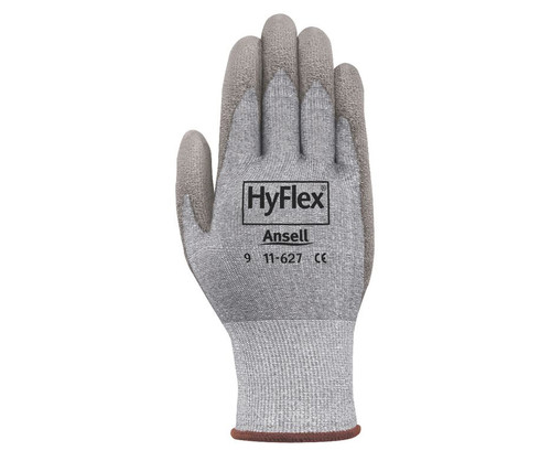 Ansell 11-627-9 HyFlex Cut Protection Palm Coated Light Duty Gloves with Knitwrist Cuff