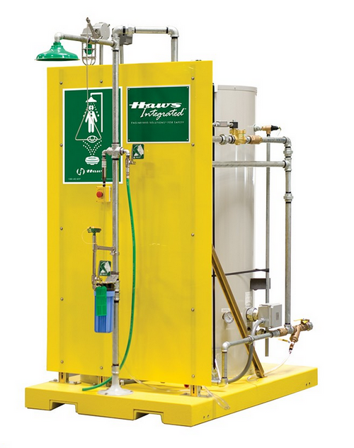 Haws 8760 Skid Mounted Emergency Tempered Shower Eye Face Wash System . Shop now!