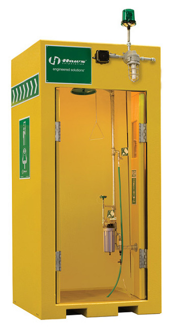 Haws 8730 Outdoor Heated Shower Eye Face Wash Booth. Shop now!