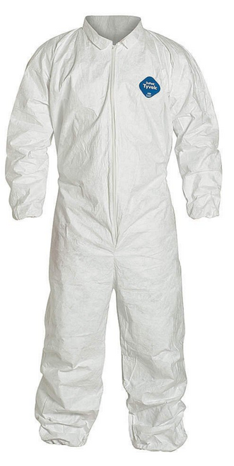 Dupont Tyvek TY125S WH Coveralls Elastic Wrists and Ankles. Shop now!