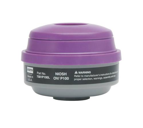 North Safety 7581P100L Organic Vapor/ Acid Gas Cartridge & P100 Filter. Shop now!