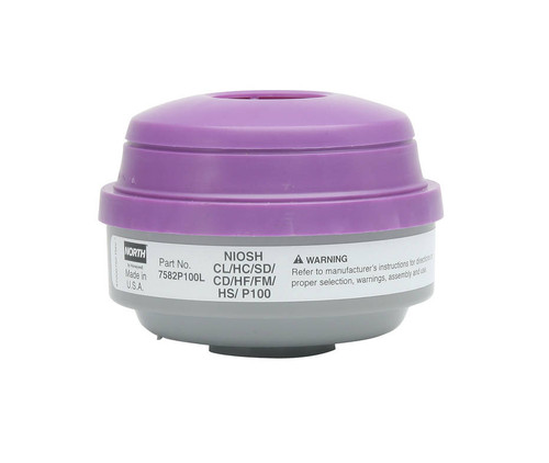 North Safety 7582P100L Organic Vapor & Acid Gas Cartridge & P100 Filter. Shop now!