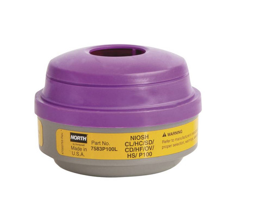 North Safety 7583P100L Acid Gas Cartridge & P100 Filter. Shop now!