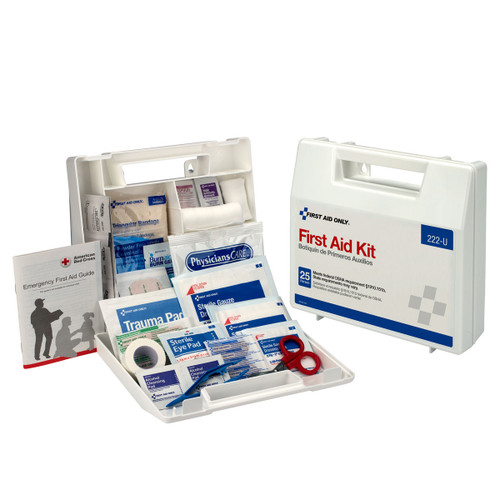 First Aid Only 222-U 10 Person First Aid Kit, Plastic Case With Dividers. Shop Now!