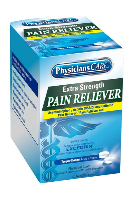 First Aid Only 90316 PhysiciansCare Extra Strength Pain Reliever, 50x2/box. Shop Now!