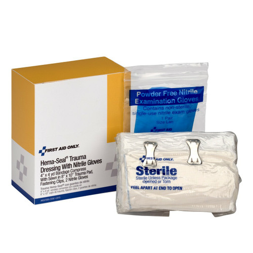First Aid Only 2-014 Hema-Seal Bloodstopper Trauma Dressing. Shop Now!