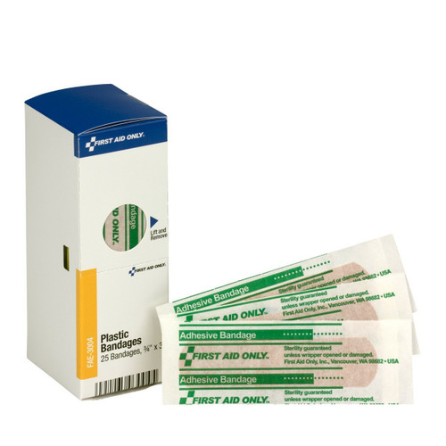 First Aid Only FAE-3004 SmartCompliance Refill Plastic Bandages, 25/box. Shop Now!
