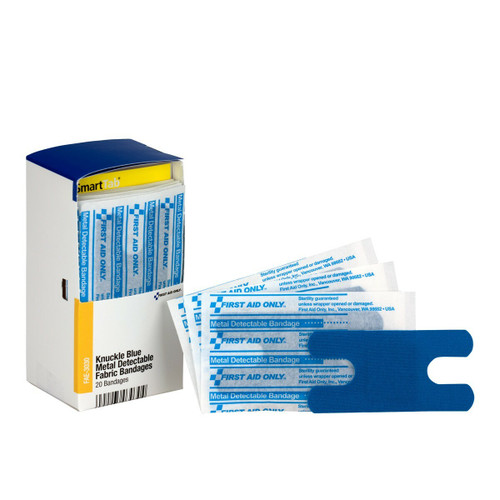 FAE-3030 First Aid Only Knuckle Visible Blue Bandage 20 Bandages. Shop Now!