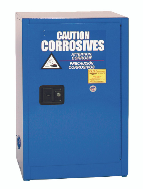 Buy Eagle CRA1924X Space Saver Acid & Corrosive Metal Safety Cabinet, 12 Gal., 1 Shelf, 1 Door, Self Close, Blue and SAVE up to 25%.