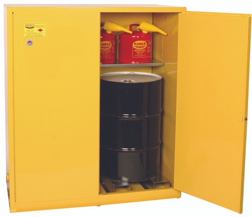SAVE up to 25% on Eagle 1955X Drum Safety Cabinet 110 Gal. Yellow Two Door Manual Close. Shop Now!