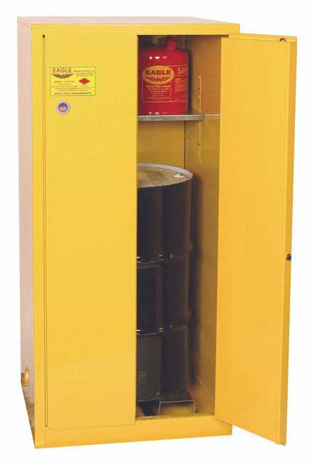 SAVE up to 25% on  Eagle 1926X One Drum Vertical Safety Cabinet 55 Gal. Manual Close. Shop Now!
