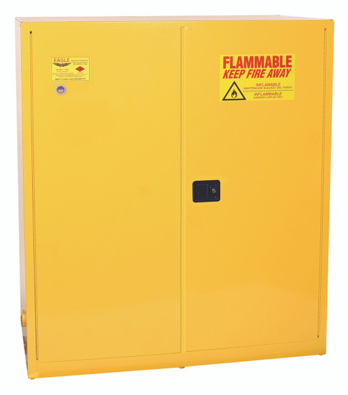 SAVE up to 25% on Eagle 5510X Drum Safety Cabinet 110 Gal Yellow Two Door Self Close.  Shop Now!