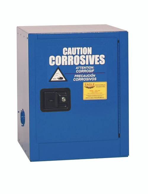 Buy Eagle CRA1903X Bench Top Acid & Corrosive Metal Safety Cabinet, 4 Gal., 1 Shelf, 1 Door, Self Close, Blue and SAVE up to 25%.