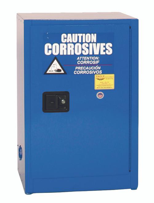 Eagle CRA1925X Space Saver Acid & Corrosive Metal Safety Cabinet, 12 Gal., 1 Shelf, 1 Door, Man. Close, Blue