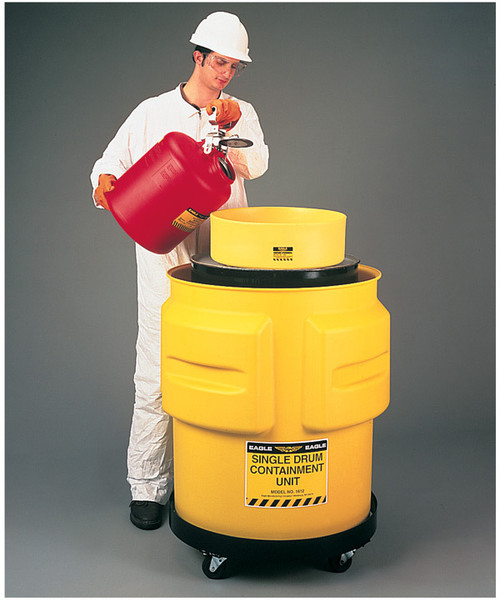 Buy Eagle 1612 Yellow Single Drum Containment Unit today and SAVE up to 25%.