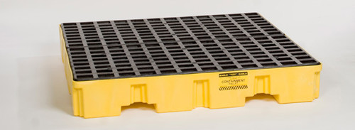 Buy Eagle 1645 Yellow 4 Drum Low Profile Containment Pallet w/ Drain today and SAVE up to 25%.