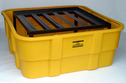 Buy Eagle 1680 Yellow IBC Containment Unit w/ Steel Platform No Drain today and SAVE up to 25%.