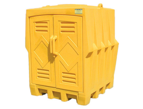 Buy Eagle 1649 4 Drum Poly Storage Building with UV Inhibitors today and SAVE up to 25%.