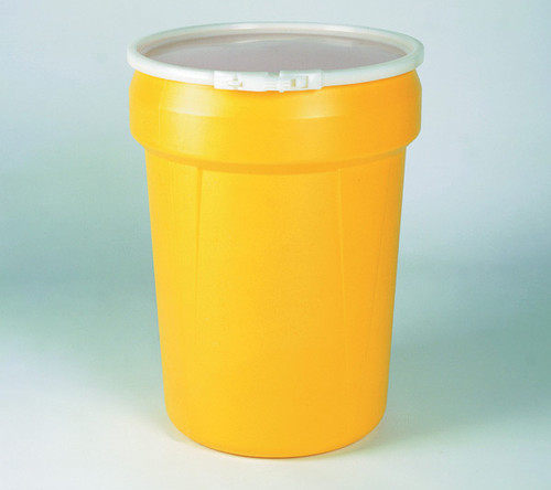 Buy Eagle 1601 Open Head Poly Drum 30 Gal Yellow w/ Plastic Lever-Lock Ring today and SAVE up to 25%.