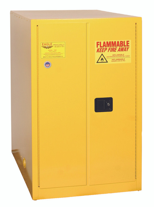 Buy Eagle 2810X One Drum Horizontal Safety Cabinet 55 Gal 2 Door Self Close today and SAVE up to 25%.