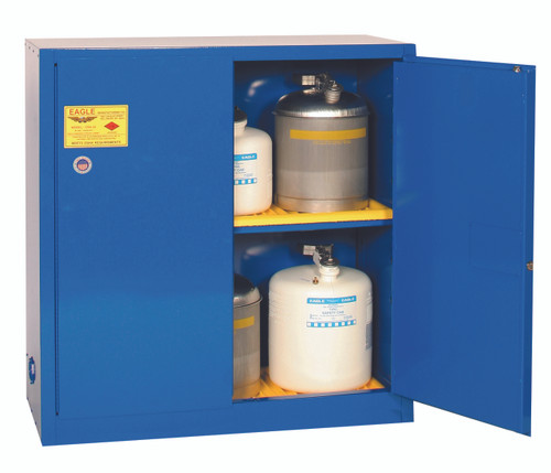 Buy Eagle CRA-32 Manual Close 30 Gal Metal Acid & Corrosive Safety Cabinet today and SAVE up to 25%.