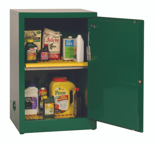 Buy Eagle PEST25X Space Saver Pesticide Safety Cabinet, 20 Gal., 1 Shelf, 1 Door, Manual Close, Green today and SAVE up to 25%.