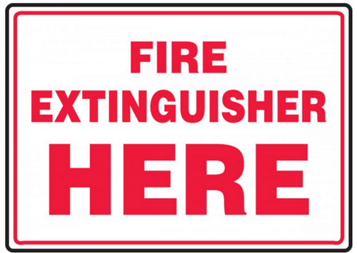 Accuform MFXG916 Fire Extinguisher Here Sign. Shop now!